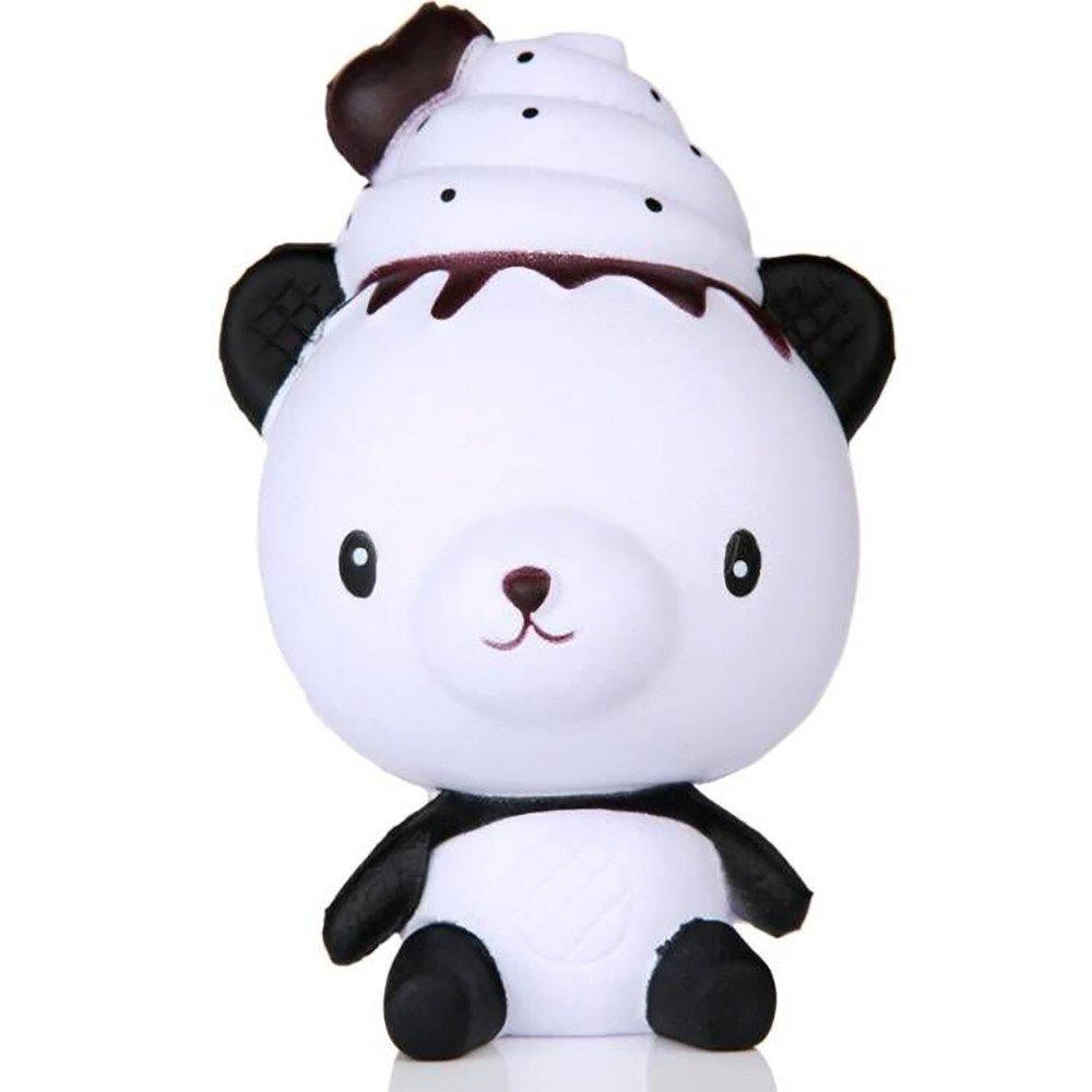Exquisite Fun Q Poo Panda Scented Squishy Charm Slow Rising 13cm Simulation Toy
