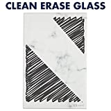 "Quartet Glass Desktop Notepad, 9' x 6"", Whiteboard, Dry Erase Surface, Marble/White,2 Pack"