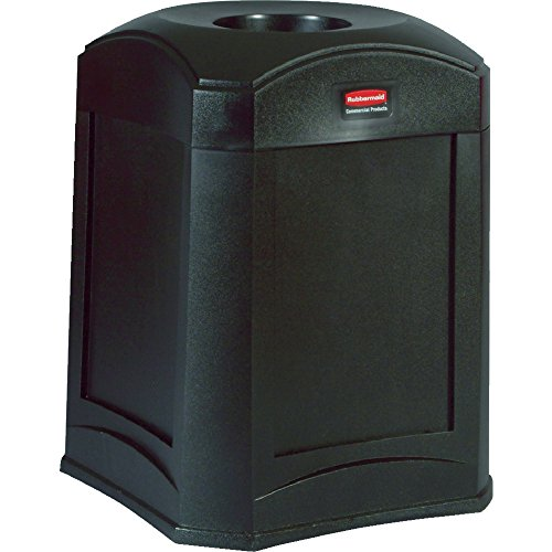 Rubbermaid Commercial Products FG9W0000BLA Waste Receptacle (Standard Funnel Top) (Funnel Top Receptacle)