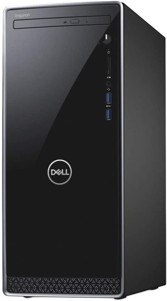 Dell Inspiron Desktop Computer, 8th Gen Intel Quad-Core i3-8100 3.6GHz(Beat i5-7400), 8GB DDR4 RAM, 1TB 7200 RPM HDD, DVDRW, WiFi, Bluetooth, USB 3.1, HDMI, Keyboard & Mouse, Windows 10 Professional