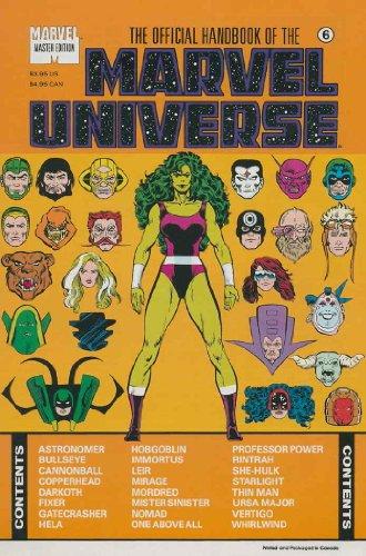 Official Handbook Marvel Universe Master Edition #6