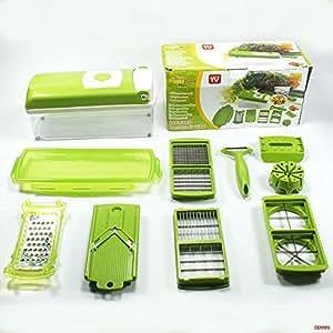 slicer holder and multi-functional salad vegetable cutter shredder (Set of 12 pcs).