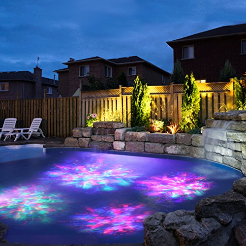 CREATIVE DESIGN Multicolored Solar Led Lights, Solar Powered USB Pond Light Fountain Lights, Waterproof Spotlight Wall Light for Swimming Pool Aquarium Fountain Garden
