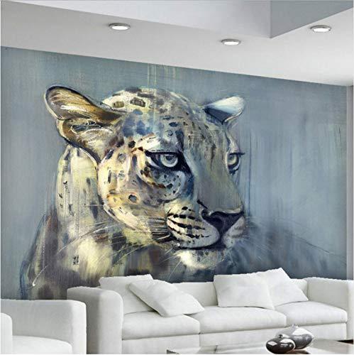 Svsnm Fototapeten Wandbilder Wohnzimmer Sofa Schlafzimmer Backsplash Decor 3D Gestreifte Tiere Leopard Wandpapier-330cm(W) x210cm(H)