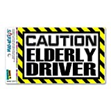 Caution Elderly Driver MAG-NEATO'S™ Automotive Car Refrigerator Locker Vinyl Magnet