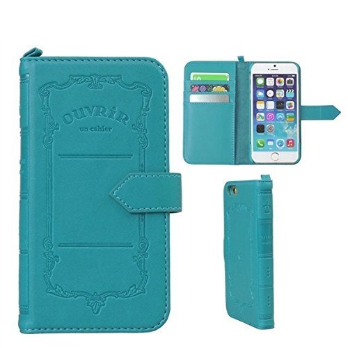OUVRIR Flip Type PU Leather Notebook Case for iPhone 6 / iPhone 6s (Orion Blue)