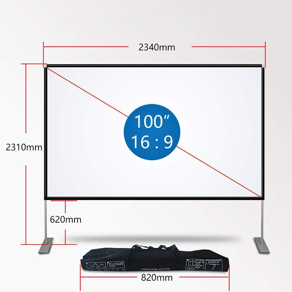 YTBLF Pantalla de proyector portátil de 100 Pulgadas, Pantalla de ...