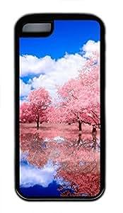 iPhone 5c case, Cute Reflected Glory iPhone 5c Cover, iPhone 5c Cases, Soft Black iPhone 5c Covers by lolosakes