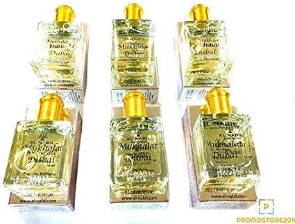 Pack de 6 agua de perfume el Nabil almizcle Silver 15 ml: Amazon.es: Belleza