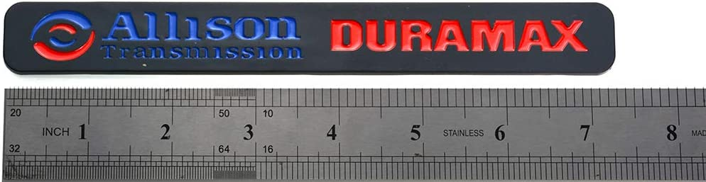 Blue Red Black 2Pcs Allison Transmission Duramax Emblem Badge Nameplates Compatible for GM Silverado 2500 HD 3500HD