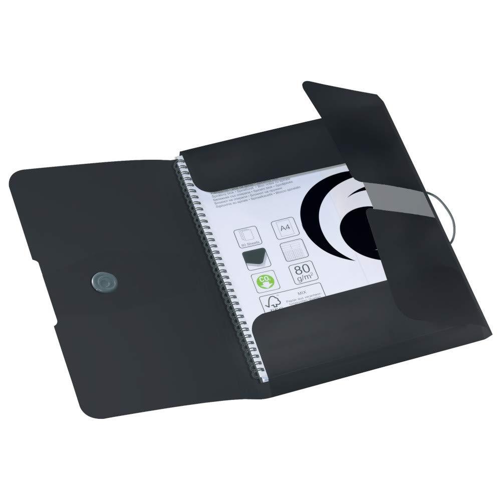 Herlitz 11205986Polypropylene (PP) Black Square Cut Folder 11205986