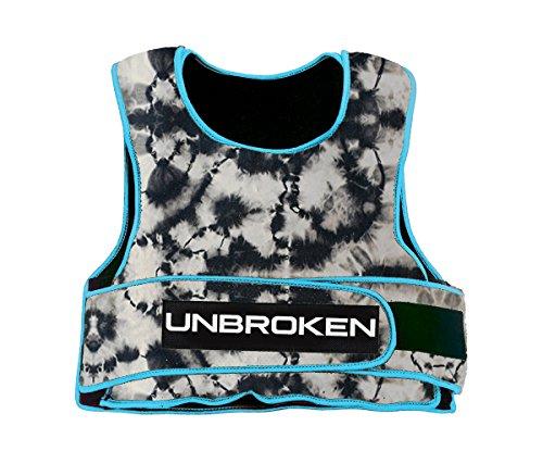 Electric Blue Tie Dye 30lb Weight Vest by Unbroken Designs