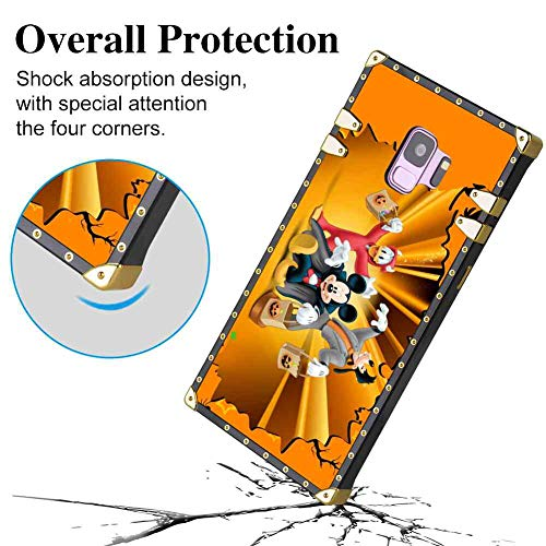 Galaxy S9 Square Phone Case (2018) (5.8-Inch) Halloween Disney Orange Donald Duck Mickey Mouse Goofy (2)