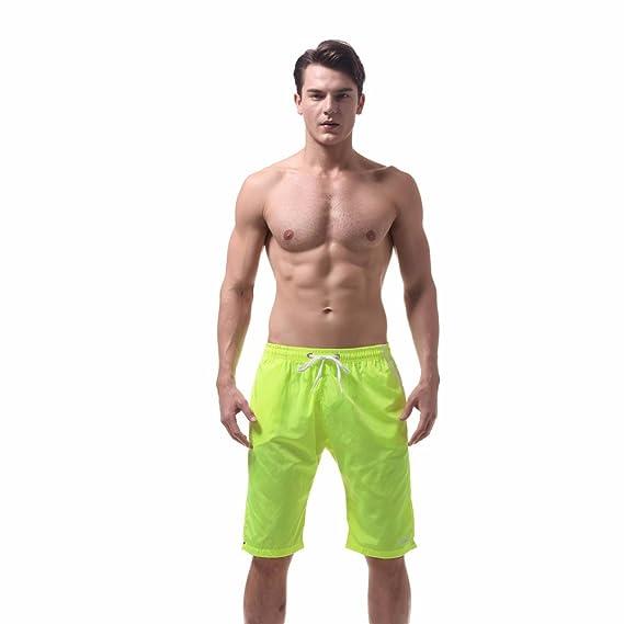 c30ce7c2ad89 Geilisungren Tallas Grandes Bañadores de Natación Boxer para Hombre ...
