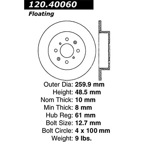 Stop Tech 127 40060r Sportstop Slotted And Drilled Brake Rotor Low