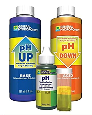 1-Set Unblemished Popular GH pH Control Water Test Kit Hydroponics Tool Adjustment Combo Up and Down Volume 8 oz with 1 oz Indicator