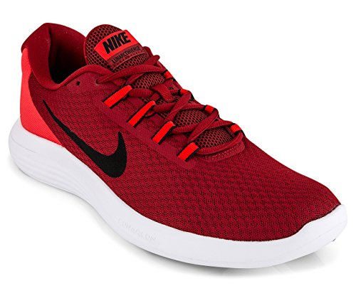 Black Orange Red Mens Sneakers - NIKE Men's Lunarconverge Running Shoe, Dark Cayenne/Black/Max Orange/White, 8.5 D US