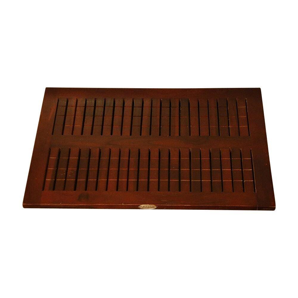 ALATEAK Wood Grate Shower Bath Spa Waterproof Floor Door Mat