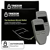 2 Pack Grey Satoshi Labs Trezor Safe Wallet for bitcoin storage offline wallet safe BTC Litecoin LTC Namecoin Dogecoin Dash