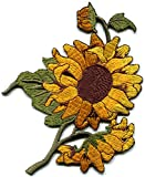 Sunflower flower granny chic retro boho embroidered applique iron-on patch S-494