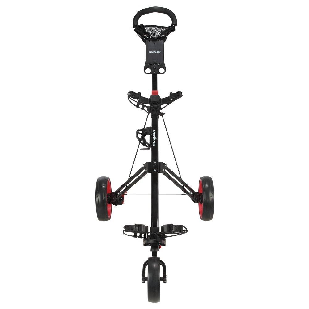 Caddymatic Golf Pro Lite 3 Wheel Golf Cart Black/Red by Caddymatic (Image #3)