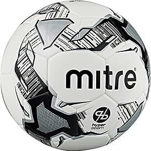 Amazon.com : Mitre Calcio Hyperseam Football - White/Black/Silver
