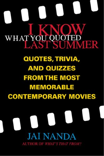I Know What You Quoted Last Summer Quotes And Trivia From The Most