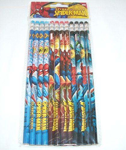 Marvel Ultimate Spiderman 12 Wood Pencils Pack