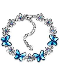 Joy of Spring Blue Butterfly Necklace/Tennis Bracelet,...