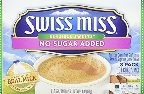 - Swiss Miss Sensible Sweets No Sugar Added Hot Cocoa Mix - 4.4 oz - 2 pk