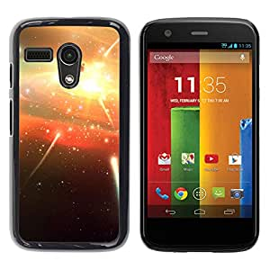 Shooting Stars Petardos - Metal de aluminio y de plástico duro Caja del teléfono - Negro - Motorola Moto G 1 1ST Gen