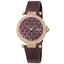 Swarovski Crystal Argyle Embossed Dial Watch