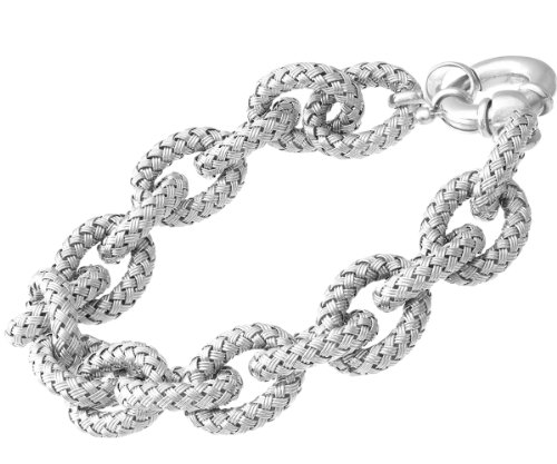 Citerna - Elegano Calla - SFBT1305W - Bracelet Femme - Plaqué Rhodium/Argent 925/1000 20.5 Gr - Verre