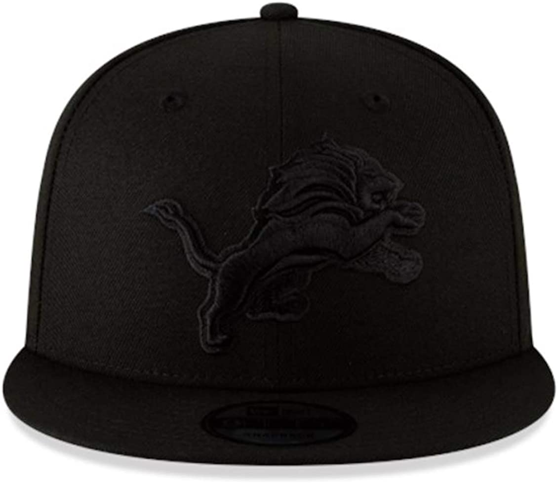 New Era Detroit Lions Black on Black Cap 59fifty Fitted NFL Limited Edition