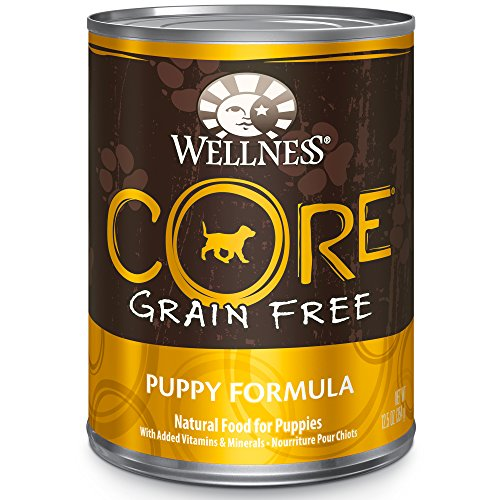 Wellness Core Natural Wet Canned Grain Free Puppy Food, Turkey, Chicken & Herring, 12.5-Ounce Can (Pack Of 12)