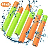 AOLODA Super Soaker Water Gun - 13'' Pool Noodle Foam Water Blaster Squirt Gun,Summer Water Fighting Toys for Kids,Teens and Adults,Set of 6
