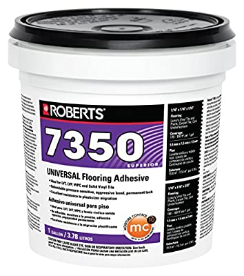 Roberts 7350-1 Universal Vinyl Flooring Adhesive, 1 Gallon