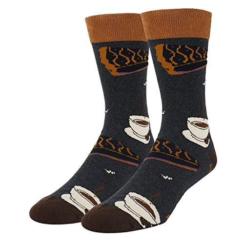 Men's Colorful Cheese Cotton Food Dress Socks