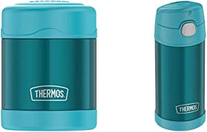 Thermos Funtainer 10 Ounce Food Jar, Teal & F4018TL6 Stainless Steel, 12 Ounce, Teal