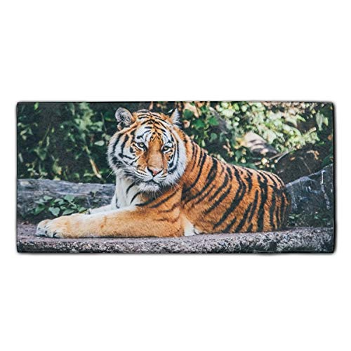 (shunshunfeng Huge Tiger Printed Kitchen Towels/Washcloths/Dish Rags,Multipurpose for Kitchen,Bathroom and Car)