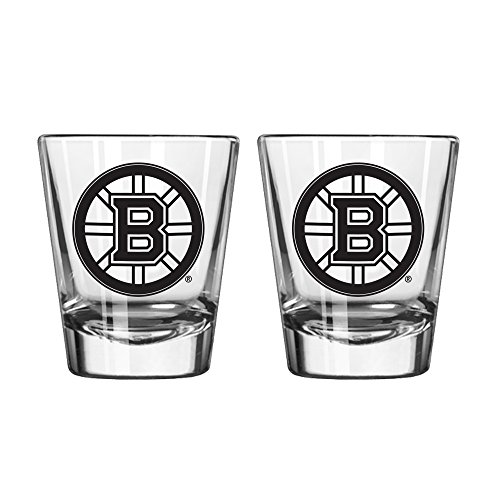 NHL Boston Bruins Game Day Shot Glass, 2-ounce, - Glass Bruins