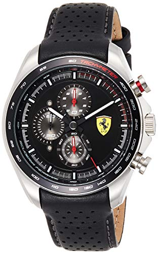Scuderia Ferrari Speedracer Analog Black Dial Men #39;s Watch 0830648