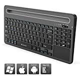 Zoweetek Rechargeable Wireless Bluetooth Keyboard with Touchpad and Numeric Keypad for Windows, Linux, Mac OS, Android, IOS, Tablet and Smart Phone