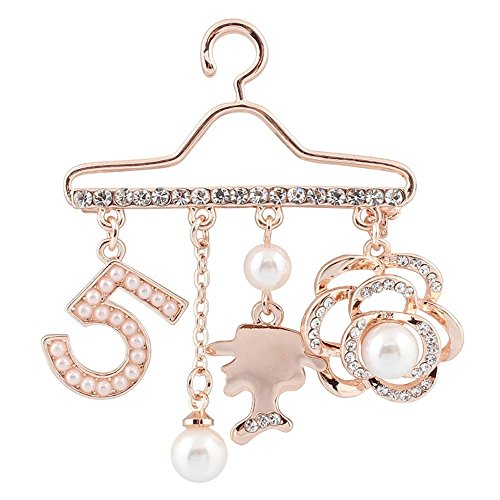 MISASHA Fashion Jewelry Lady Logo Brooch Pin