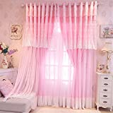 Lotus Karen Sweet Korean Princess Style Curtains For Girls Bedroom Home Decorative Lace Grommet Blackout Valance Curtains For Living Room,Bedroom