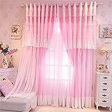 Lotus Karen Sweet Korean Princess Style Curtains For Girls Bedroom Home Decorative Lace Grommet Blackout Valance Curtains For Living Room,Bedroom