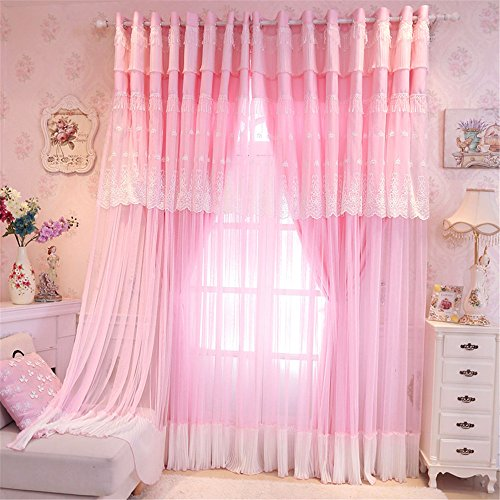 Lotus Karen Sweet Korean Princess Style Curtains For Girls Bedroom ...