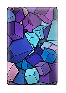 Hot Snap-on Cubes Hard Covers Cases/ Protective Cases For Ipad Mini