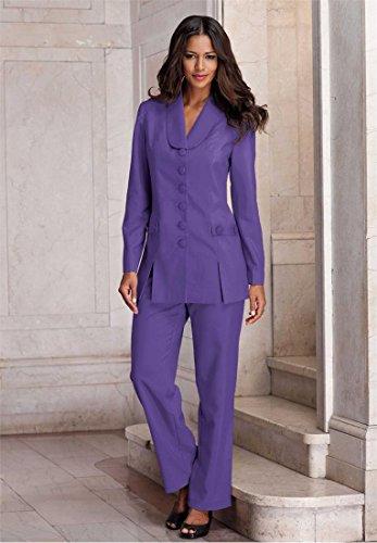 Roamans Women's Plus Size 10-Button Pantsuit