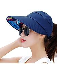 1046eef3248 Sun Hats Women Wide Brim UV Protection Summer Beach Packable Visor